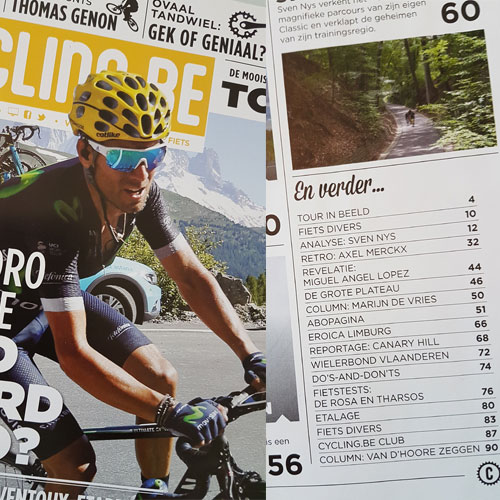 Canary Hill in Cycling.be Magazine