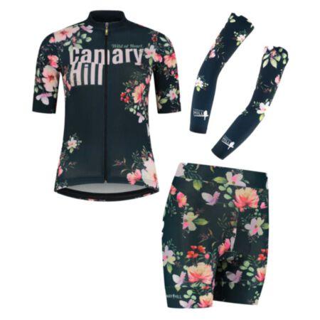 Canary Hill Bouquet Combo fietstrui, armwarmers en koersbroek dames